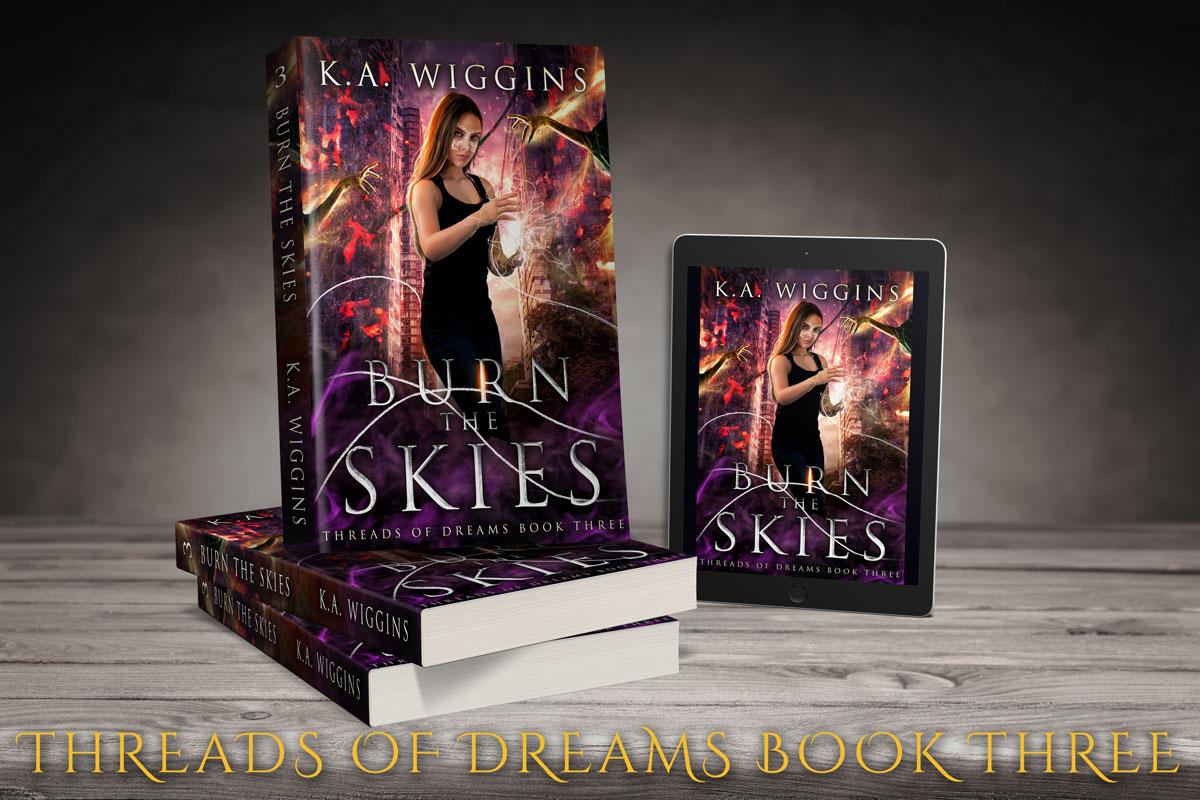 Shop Burn the Skies by K.A. Wiggins